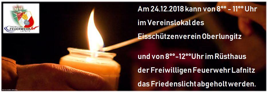 Friedenslicht am 24.12.2018
