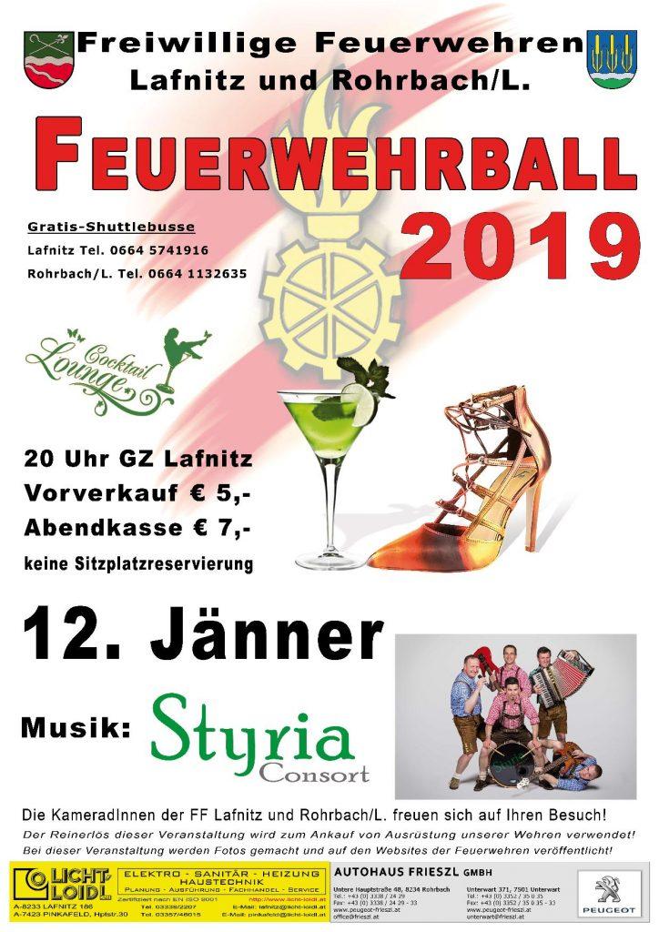 Plakat Feuerwehrball 2019