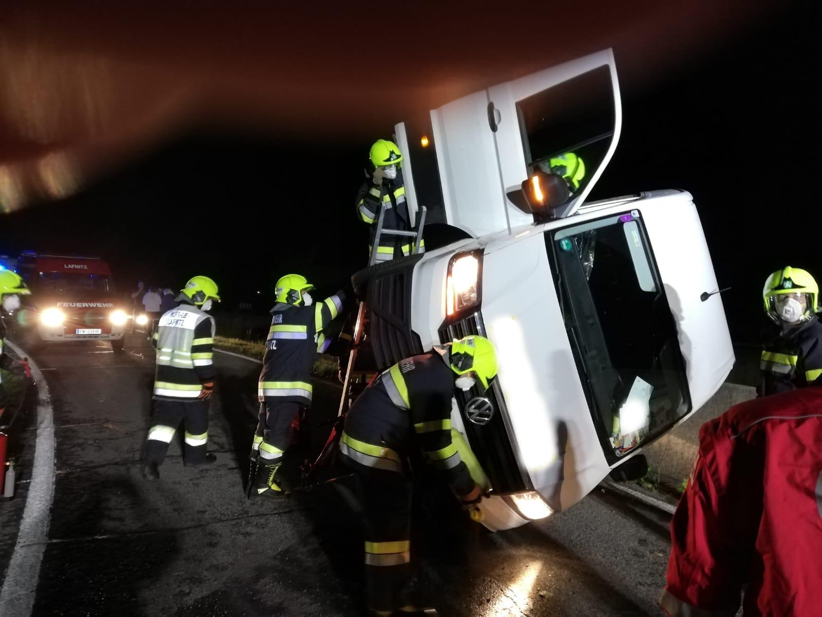 Verkehrsunfall B54, 25. Mai 2020