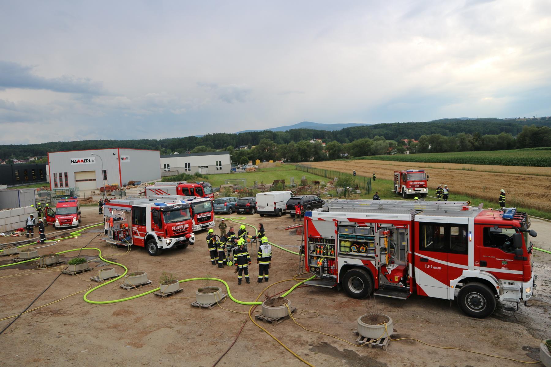 Abschnittsübung: Brand im Fernheizwerk Lafnitz