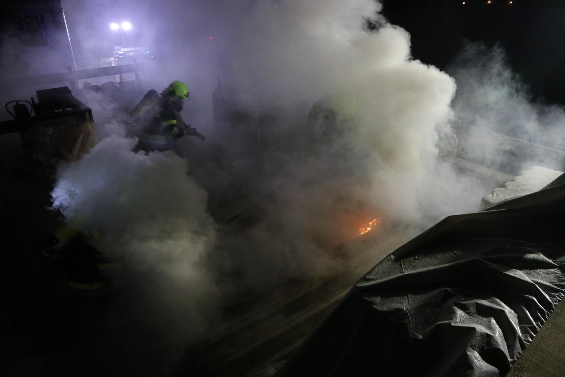 Rauchentwicklung und Brand auf Baustelle in Lafnitz