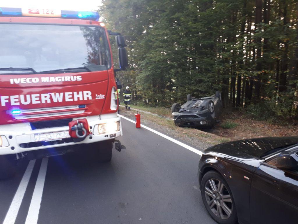 Verkehrsunfall mit eingeklemmter Person – 14.10.2019