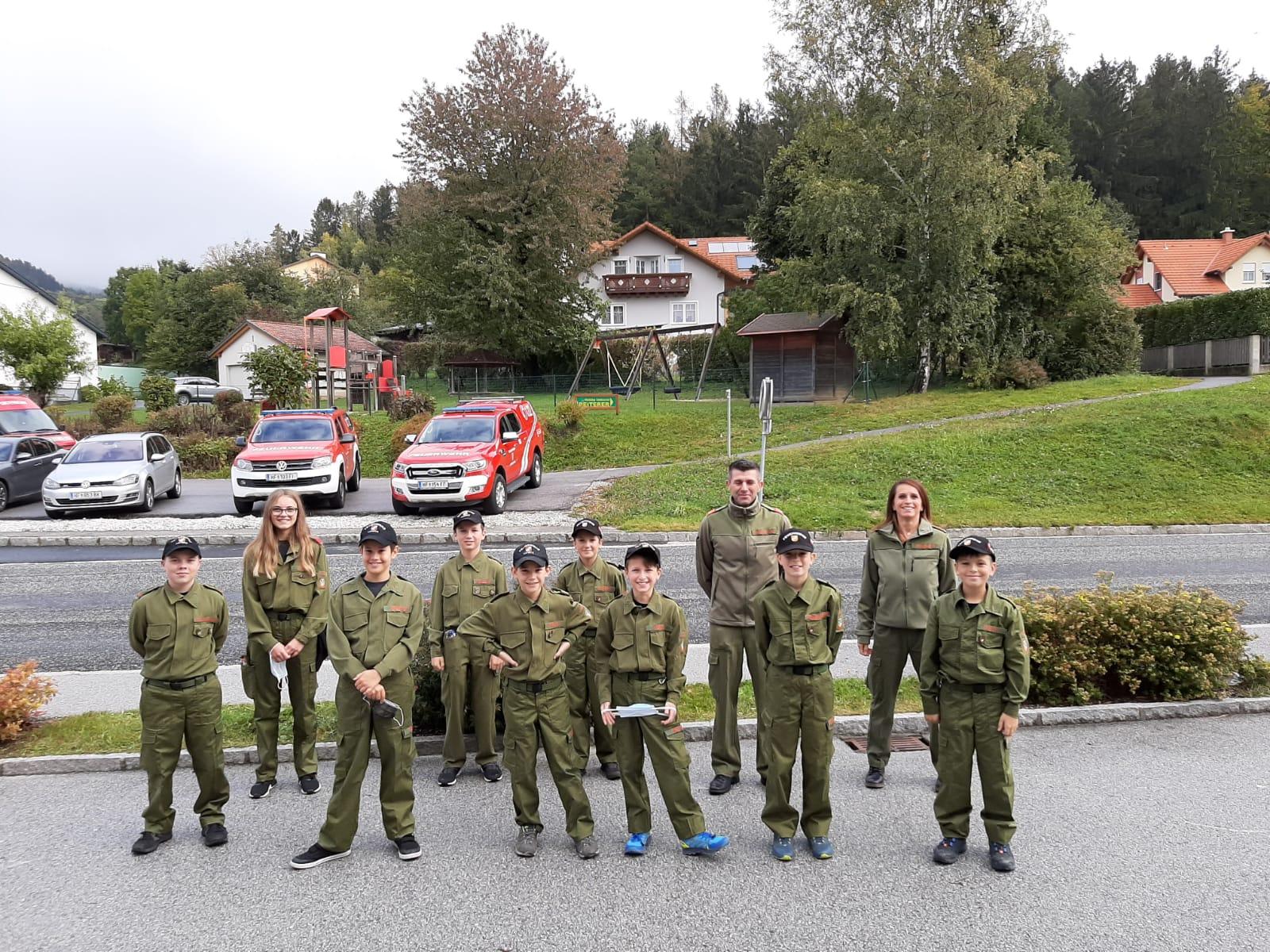 Wissenstest und Wissenstestspiel der Feuerwehrjugend in St. Lorenzen